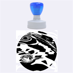 WATER RIPPLES 1 Rubber Round Stamps (Large)