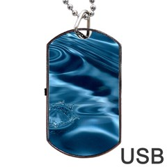 Water Ripples 1 Dog Tag Usb Flash (two Sides)