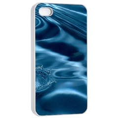 WATER RIPPLES 1 Apple iPhone 4/4s Seamless Case (White)