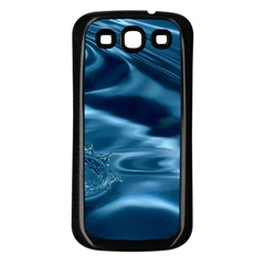 WATER RIPPLES 1 Samsung Galaxy S3 Back Case (Black)