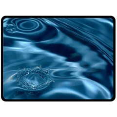 Water Ripples 1 Double Sided Fleece Blanket (large)