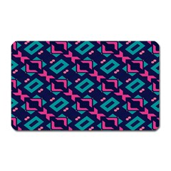 Pink and blue shapes pattern Magnet (Rectangular)