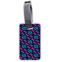 Pink and blue shapes pattern Luggage Tag (two sides)