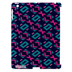 Pink and blue shapes pattern Apple iPad 3/4 Hardshell Case (Compatible with Smart Cover)