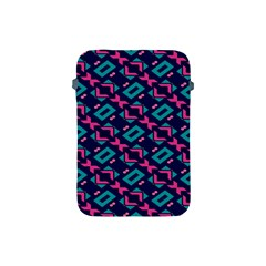 Pink and blue shapes pattern Apple iPad Mini Protective Soft Case