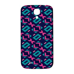 Pink and blue shapes pattern Samsung Galaxy S4 I9500/I9505  Hardshell Back Case