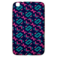 Pink and blue shapes pattern Samsung Galaxy Tab 3 (8 ) T3100 Hardshell Case