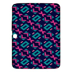 Pink and blue shapes pattern Samsung Galaxy Tab 3 (10.1 ) P5200 Hardshell Case
