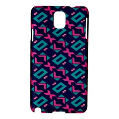 Pink and blue shapes pattern Samsung Galaxy Note 3 N9005 Hardshell Case