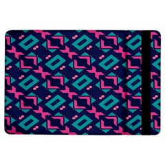 Pink and blue shapes pattern	Apple iPad Air Flip Case