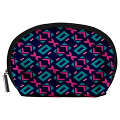 Pink and blue shapes pattern Accessory Pouch