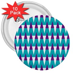 Peaks pattern 3  Button (10 pack)