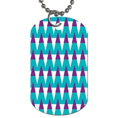 Peaks pattern Dog Tag (Two Sides)