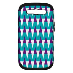 Peaks pattern Samsung Galaxy S III Hardshell Case (PC+Silicone)