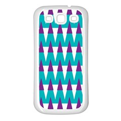 Peaks pattern Samsung Galaxy S3 Back Case (White)