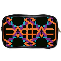 Juxtaposed shapes Toiletries Bag (Two Sides)
