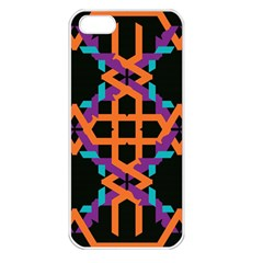 Juxtaposed shapes Apple iPhone 5 Seamless Case (White)