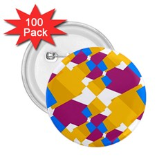 Layered shapes 2.25  Button (100 pack)