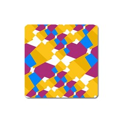 Layered shapes Magnet (Square)