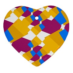 Layered shapes Heart Ornament (Two Sides)