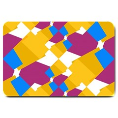 Layered shapes Large Doormat