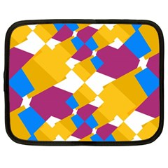 Layered shapes Netbook Case (XXL)