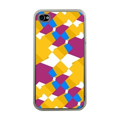 Layered shapes Apple iPhone 4 Case (Clear)