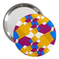 Layered shapes 3  Handbag Mirror