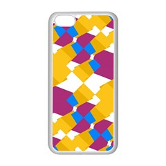 Layered shapes Apple iPhone 5C Seamless Case (White)