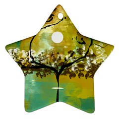 She Open s To The Moon Ornament (star)