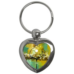 She Open s to the Moon Key Chains (Heart)