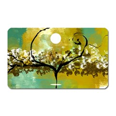 She Open s To The Moon Magnet (rectangular)