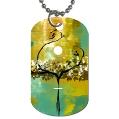 She Open s to the Moon Dog Tag (Two Sides)