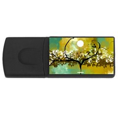 She Open s to the Moon USB Flash Drive Rectangular (2 GB)