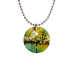 She Open s To The Moon Button Necklaces