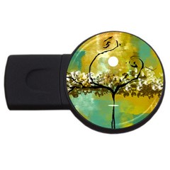 She Open s To The Moon Usb Flash Drive Round (4 Gb)