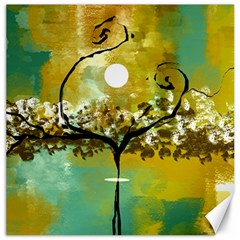 She Open s to the Moon Canvas 20  x 20