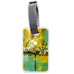 She Open s to the Moon Luggage Tags (Two Sides)