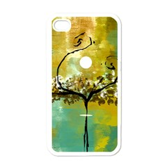 She Open s To The Moon Apple Iphone 4 Case (white)
