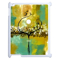 She Open s to the Moon Apple iPad 2 Case (White)