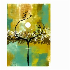 She Open s to the Moon Small Garden Flag (Two Sides)