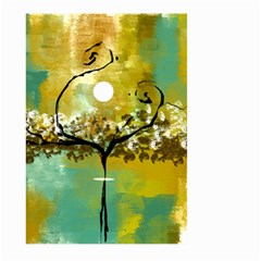 She Open s to the Moon Large Garden Flag (Two Sides)
