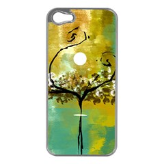 She Open s To The Moon Apple Iphone 5 Case (silver)