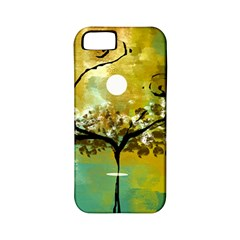 She Open s to the Moon Apple iPhone 5 Classic Hardshell Case (PC+Silicone)