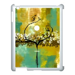 She Open s To The Moon Apple Ipad 3/4 Case (white)