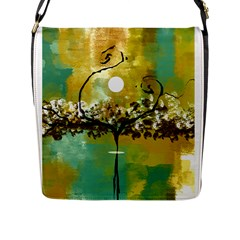 She Open s to the Moon Flap Messenger Bag (L)