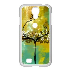 She Open s to the Moon Samsung GALAXY S4 I9500/ I9505 Case (White)