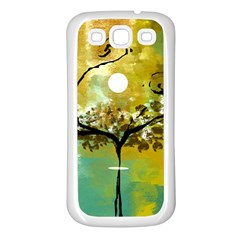 She Open s To The Moon Samsung Galaxy S3 Back Case (white)