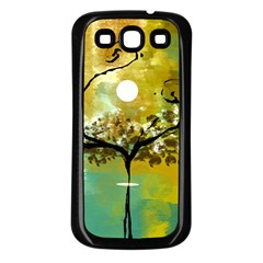 She Open s to the Moon Samsung Galaxy S3 Back Case (Black)