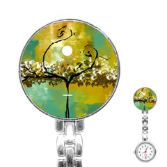 She Open s to the Moon Stainless Steel Nurses Watches